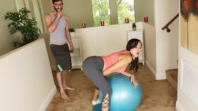 Comendo a aluna de ioga safada