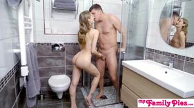 Novinha tomando banho com cunhado